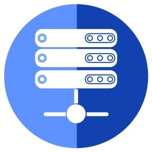 3台のウェブサーバーのイラスト