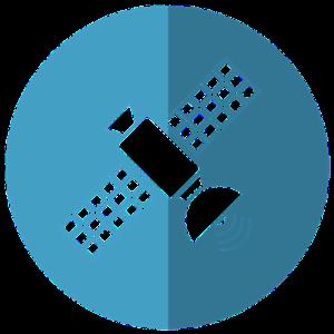 通信衛星のイラスト