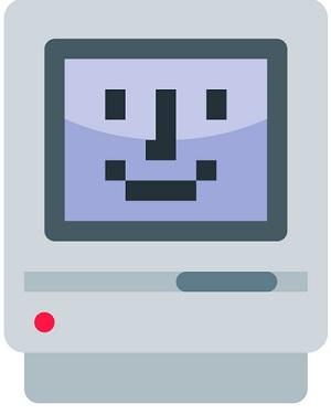 古いMac SEのイラスト