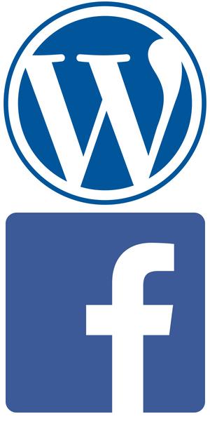 ワードプレスとフェイスブックのロゴマークのイラスト