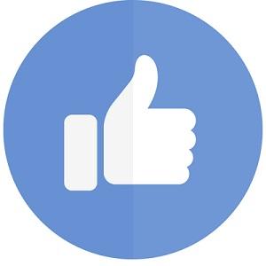 親指を立てた手のアイコン画像