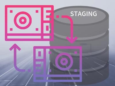 データベースとバックアップのイメージ