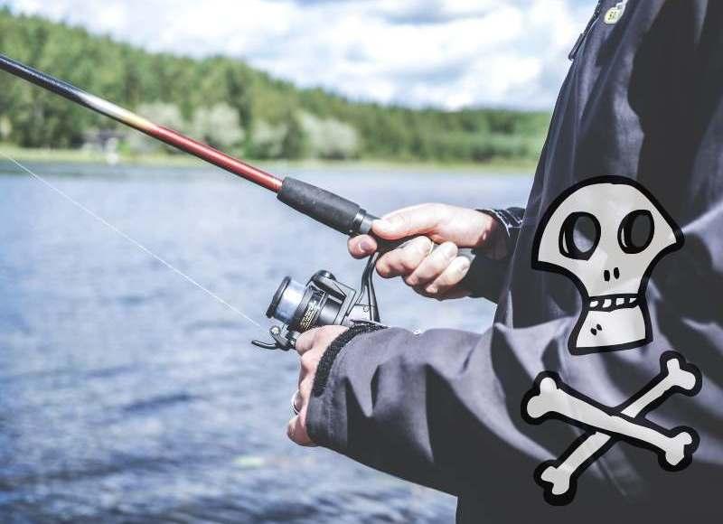 釣り人と海賊をイメージするイラスト