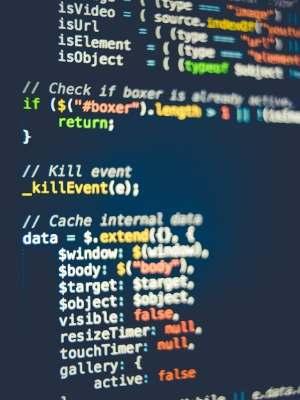 コーディングのコードの写真